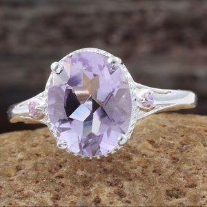 Jewelry - 2/$28 Amethyst Sterling Silver Ring Size 6